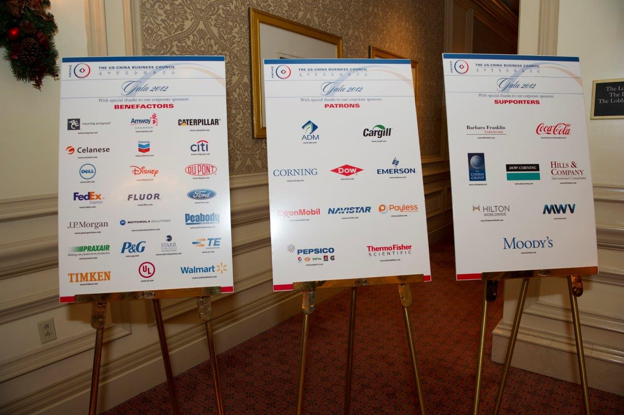 40 member companies sponsored the 2012 Gala event, which is an important fundraising effort that strengthens the US-China Business Council's (USCBC) ability to serve its member companies.