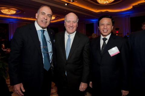 USCBC Chair and Coca-Cola Co. Chair and CEO Muhtar Kent, White House Chief of Staff William Daley, and Ambassador Zhang at USCBC's Gala 2011.