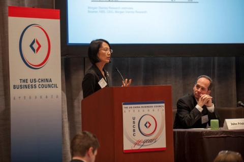 Helen Qiao, chief economist for Greater China, Morgan Stanley, spoke at the conference, examining China's economic environment and the outlook for 2013.