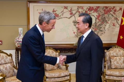 USCBC President Craig Allen and Chinese State Councilor and Foreign Minister Wang Yi